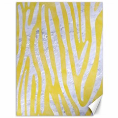 Skin4 White Marble & Yellow Watercolor (r) Canvas 36  X 48   by trendistuff