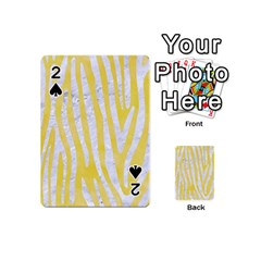 Skin4 White Marble & Yellow Watercolor (r) Playing Cards 54 (mini)  by trendistuff