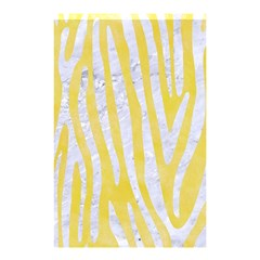 Skin4 White Marble & Yellow Watercolor (r) Shower Curtain 48  X 72  (small)  by trendistuff
