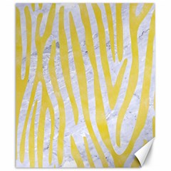 Skin4 White Marble & Yellow Watercolor Canvas 20  X 24   by trendistuff