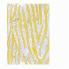 Skin4 White Marble & Yellow Watercolor Large Garden Flag (two Sides) by trendistuff