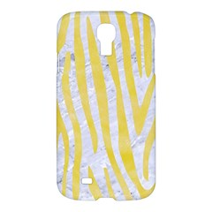 Skin4 White Marble & Yellow Watercolor Samsung Galaxy S4 I9500/i9505 Hardshell Case by trendistuff