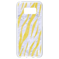 Skin3 White Marble & Yellow Watercolor (r) Samsung Galaxy S8 White Seamless Case by trendistuff