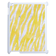 Skin3 White Marble & Yellow Watercolor Apple Ipad 2 Case (white) by trendistuff
