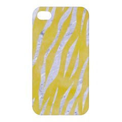 Skin3 White Marble & Yellow Watercolor Apple Iphone 4/4s Premium Hardshell Case by trendistuff