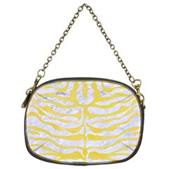Skin2 White Marble & Yellow Watercolor (r) Chain Purses (one Side)  by trendistuff