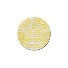 Skin2 White Marble & Yellow Watercolor Golf Ball Marker by trendistuff