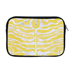 Skin2 White Marble & Yellow Watercolor Apple Macbook Pro 17  Zipper Case by trendistuff
