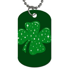 Sparkly Clover Dog Tag (two Sides) by Valentinaart