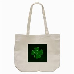 Sparkly Clover Tote Bag (cream) by Valentinaart