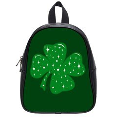 Sparkly Clover School Bag (small) by Valentinaart