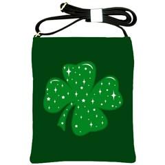 Sparkly Clover Shoulder Sling Bags