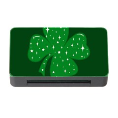 Sparkly Clover Memory Card Reader With Cf by Valentinaart