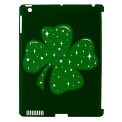 Sparkly Clover Apple Ipad 3/4 Hardshell Case (compatible With Smart Cover) by Valentinaart