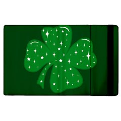 Sparkly Clover Apple Ipad 3/4 Flip Case by Valentinaart