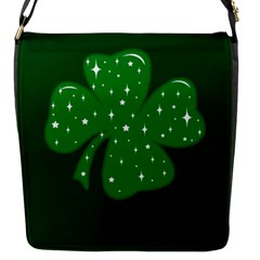 Sparkly Clover Flap Messenger Bag (s) by Valentinaart