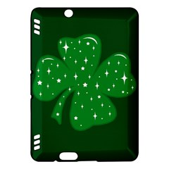 Sparkly Clover Kindle Fire Hdx Hardshell Case by Valentinaart