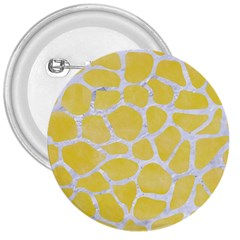 Skin1 White Marble & Yellow Watercolor (r) 3  Buttons by trendistuff