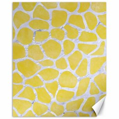 Skin1 White Marble & Yellow Watercolor (r) Canvas 16  X 20   by trendistuff