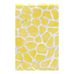 Skin1 White Marble & Yellow Watercolor (r) Shower Curtain 48  X 72  (small)  by trendistuff