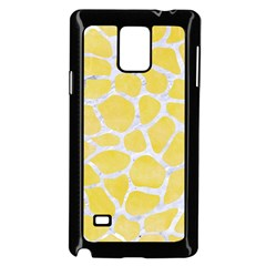 Skin1 White Marble & Yellow Watercolor (r) Samsung Galaxy Note 4 Case (black) by trendistuff