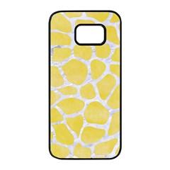 Skin1 White Marble & Yellow Watercolor (r) Samsung Galaxy S7 Edge Black Seamless Case by trendistuff