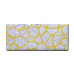 Skin1 White Marble & Yellow Watercolor Cosmetic Storage Cases by trendistuff