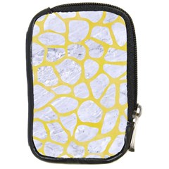 Skin1 White Marble & Yellow Watercolor Compact Camera Cases by trendistuff