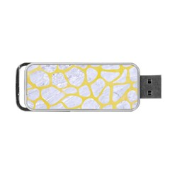 Skin1 White Marble & Yellow Watercolor Portable Usb Flash (two Sides) by trendistuff