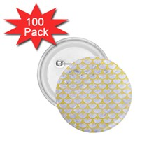 Scales3 White Marble & Yellow Watercolor (r) 1 75  Buttons (100 Pack)  by trendistuff