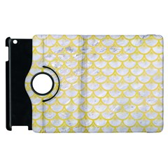 Scales3 White Marble & Yellow Watercolor (r) Apple Ipad 2 Flip 360 Case by trendistuff