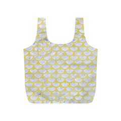 Scales3 White Marble & Yellow Watercolor (r) Full Print Recycle Bags (s)  by trendistuff