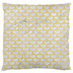 Scales3 White Marble & Yellow Watercolor (r) Standard Flano Cushion Case (one Side) by trendistuff