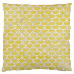 Scales3 White Marble & Yellow Watercolor Large Cushion Case (one Side) by trendistuff