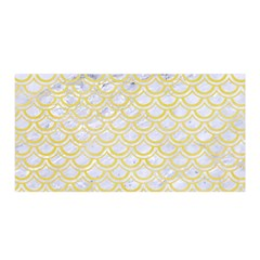 Scales2 White Marble & Yellow Watercolor (r)scales2 White Marble & Yellow Watercolor (r) Satin Wrap by trendistuff