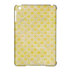 Scales2 White Marble & Yellow Watercolor Apple Ipad Mini Hardshell Case (compatible With Smart Cover) by trendistuff