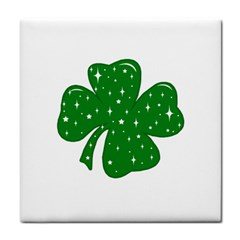 Sparkly Clover Tile Coasters by Valentinaart