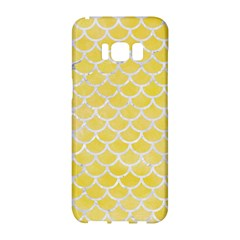 Scales1 White Marble & Yellow Watercolor Samsung Galaxy S8 Hardshell Case  by trendistuff