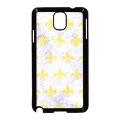 Royal1 White Marble & Yellow Watercolor Samsung Galaxy Note 3 Neo Hardshell Case (black) by trendistuff