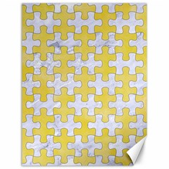 Puzzle1 White Marble & Yellow Watercolor Canvas 12  X 16   by trendistuff