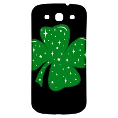 Sparkly Clover Samsung Galaxy S3 S Iii Classic Hardshell Back Case by Valentinaart