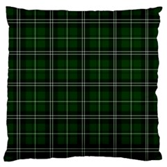 Green Plaid Pattern Standard Flano Cushion Case (one Side) by Valentinaart