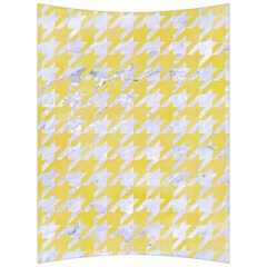 Houndstooth1 White Marble & Yellow Watercolor Back Support Cushion by trendistuff