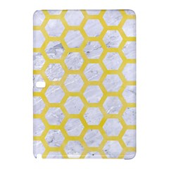 Hexagon2 White Marble & Yellow Watercolor (r) Samsung Galaxy Tab Pro 12 2 Hardshell Case by trendistuff
