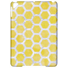 Hexagon2 White Marble & Yellow Watercolor Apple Ipad Pro 9 7   Hardshell Case by trendistuff