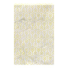 Hexagon1 White Marble & Yellow Watercolor (r) Shower Curtain 48  X 72  (small)  by trendistuff