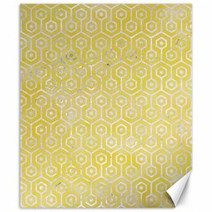 Hexagon1 White Marble & Yellow Watercolor Canvas 8  X 10  by trendistuff