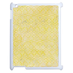 Hexagon1 White Marble & Yellow Watercolor Apple Ipad 2 Case (white) by trendistuff