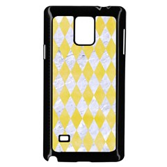 Diamond1 White Marble & Yellow Watercolor Samsung Galaxy Note 4 Case (black) by trendistuff