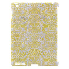 Damask2 White Marble & Yellow Watercolor (r) Apple Ipad 3/4 Hardshell Case (compatible With Smart Cover) by trendistuff